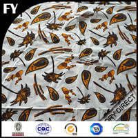 100% polyester french terry fleece fabric custom digital printed