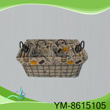 Iron craft basket supporting basket for home and garden pergola