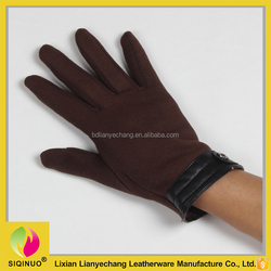 Best brown color wrist strap touch screen driving gloves motorcycle