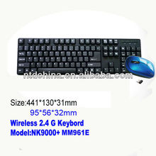 2.4G cheap wireless keyboard and mouse