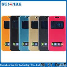 General mobile discovery case , view window touch screen rotating leather phone case