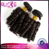Accept paypal 5A Grade Spiral Curl 26 inches Wholesale hight quality virgin unprocessed indian hair from india