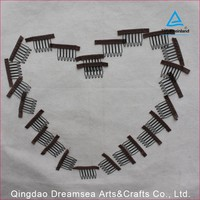 Wholesale 100pcs a lot cheap Chinese supplier black brown color small many in stock wig clips in bulk