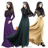 free shipping high quality muslim abaya + different scarf mixed styles