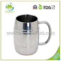 450ml Laser Engraved Stainless Steel Double Wall Freezer Beer Mug