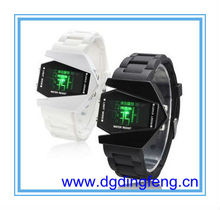 Cool silicone airplane LED pilot watch,promotion tvg watch,orkina watches
