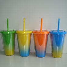 BPA Free 16oz Double wall tumbler with straw