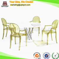 (SP-AC124) antique dining transparent acrylic arm luis ghost chair