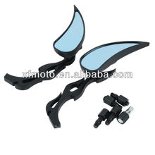 Black Teardrop Flame Rear Mirrors For Honda Rebel 250 2004-2007 2005 2006