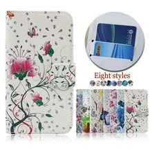 Flower Butterfly Pattern Flip Leather Cell Phone Case Cover for zte KIS 3 MAX/Blade G Lux