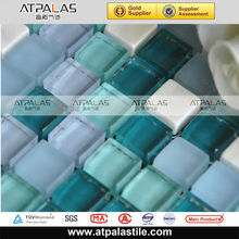 kitchen backsplash and swimming pool deisgn green glass mosaic tile