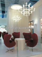 Lámpara pendiente de cubierta popular superior de cristal de aluminio moderna