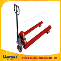 Hot Sale HAIZHILI Hand Pallet Truck 3 ton paper roll lifting equipment made in china