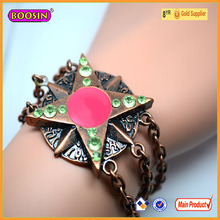 Top design trendy jewelry bracelets magnetic pentacle vintage bracelets wholesale direct from China #370