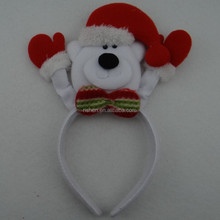 white christmas litter bear head band unique kids holiday hair ornament, christmas head band