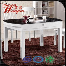 square glass fold up dining table
