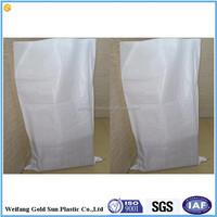 50kg pp woven flour sacks virgin material milky white color
