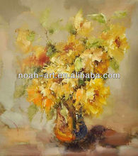 Handpainted yellow flower oil painting by skilled painter