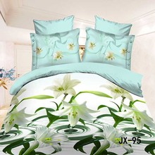 2015 Fashion Fresh and natural lily cotton bed sheets