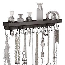 Montaje en pared porta collar de la joyería organizador del armario de almacenamiento