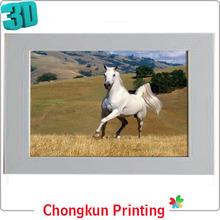 Impressão lenticular 3D imagens 3D de cavalos para presente