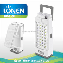 LONEN wholesale 32 SMD bright light flexible portable emergency led lamp
