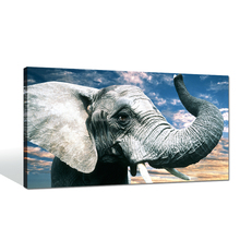 Stretched Canvas Elephant Painting Ready to Hang On the Wall Decor