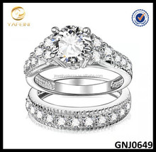 Wholesale YaFeiNi Jewelry Sterling Silver Wedding Ring Fashion Wedding Ring Set