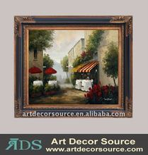 Garden Oil Painting w/Frame in 3 sizes