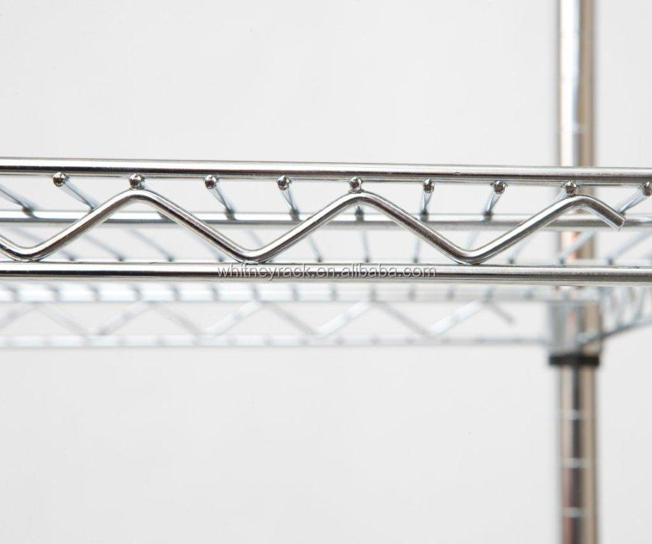 Wire Shelving With Wheels Lowes Stainless Steel Shelving Nsf Chrome ...