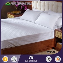 Rectangle shape and 100% cotton material Duck Down Feather 100% cotton hotel bed linenflat sheetduvet coverpillow case