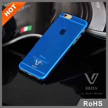 Colorful PC Transparent Clear Skin Protector Back Cover Case for iPhone 6 6 Plus