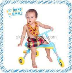 Trolley baby three wheel kids kick scooter dry milk baby used scooter