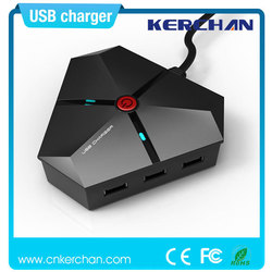 Mobile phone accessories factory in china,usb wall charger,5V multi 6 port usb desktop tablet charger with max 6A