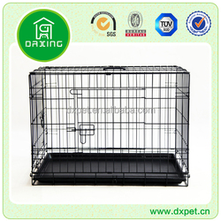 """DXW003 Quality 24"""" Folding Heavy Duty Pet Crate Kennel Wire Cage for Dogs Cats or Rabbits"""