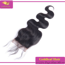 hot selling virgin indian hair lace closure piece 4x4 with baby hair