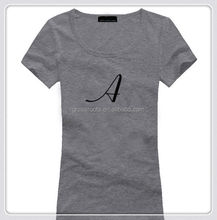 best selling 100%cotton popular usa women slim fit t-shirt