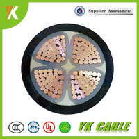 xlpe / pvc insulated copper conductor 4 core power cable