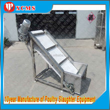 Stainless Steel Structure Rubber Conveyor Belt/food band carrier/chicken band carrier