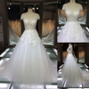 TH-7913JL hot sale A-line fashion wedding dress with cap sleeve wedding dress and lace appliqued dress from Guangzhou
