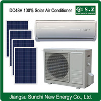 Hot selling solar powered DC48V islands split wall type air conditioner brands