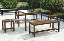 outdoor comfortable cheap bar rattan table and chair(YPS033)