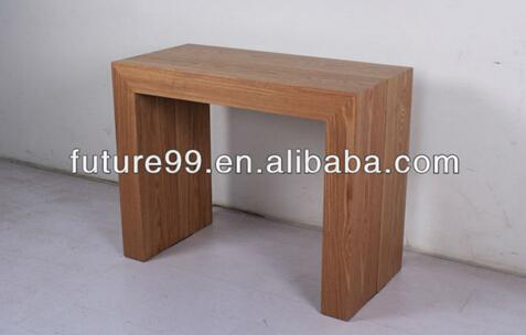 Extensible bois salle manger meubles longue et troite for Table salle a manger etroite