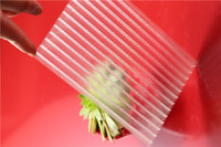 8mm thickness transparent PC Hollow X Profile sheet