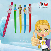 2015 custom clip pen,cute plastic pen with custom clip,cartoon pen clip
