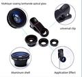 3 en 1 kit de lente ojo de pez plata clip de fotos lente gran angular macro lente ojo de pez para iPhone4 / 5 / 5s / 6