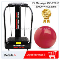 High Quality MP3 2000W Body Shaper Exercise Machine 160 levels speed