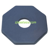 Black Portable Rubber Material Post Base China Factory