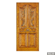 solid wood panel door carved teak wood door