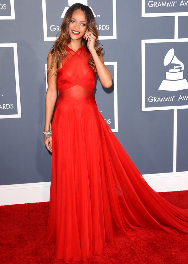 Gallery For gt Rihanna Red Dress